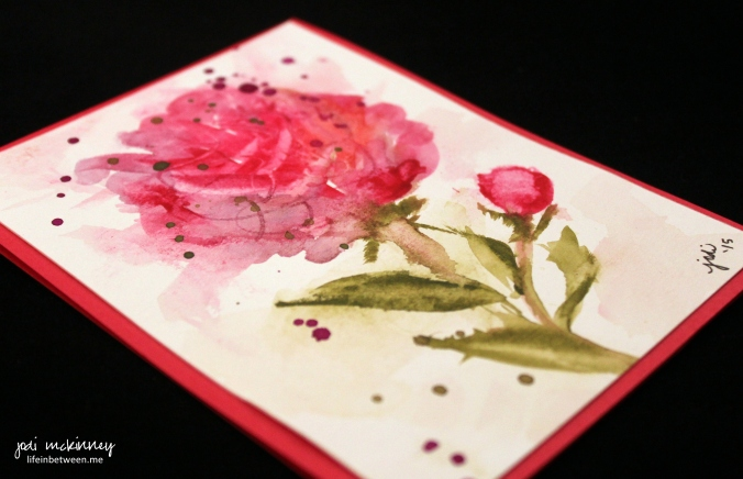 pink peony watercolor card 3