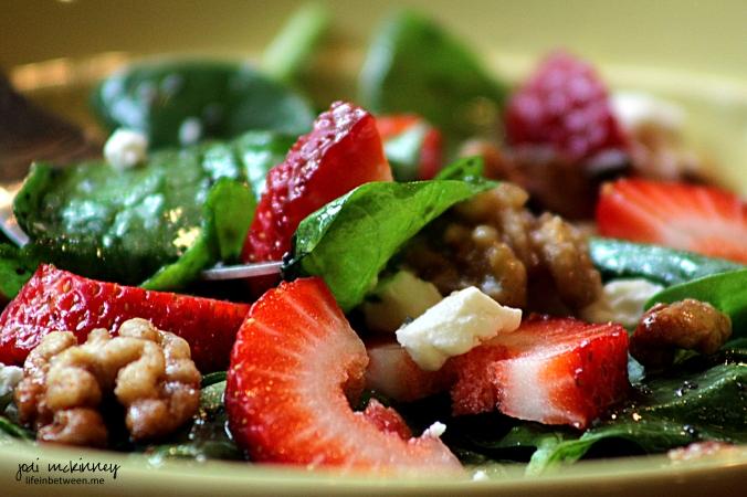 Strawberry Spinach Salad 1