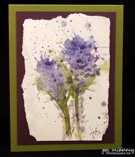 Watercolor Blue Thistle Card