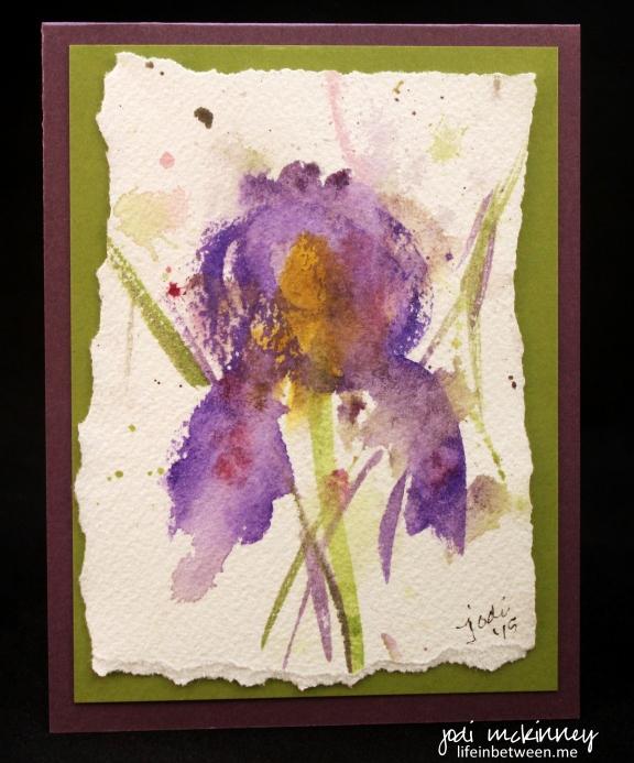 Watercolor Iris Card 3