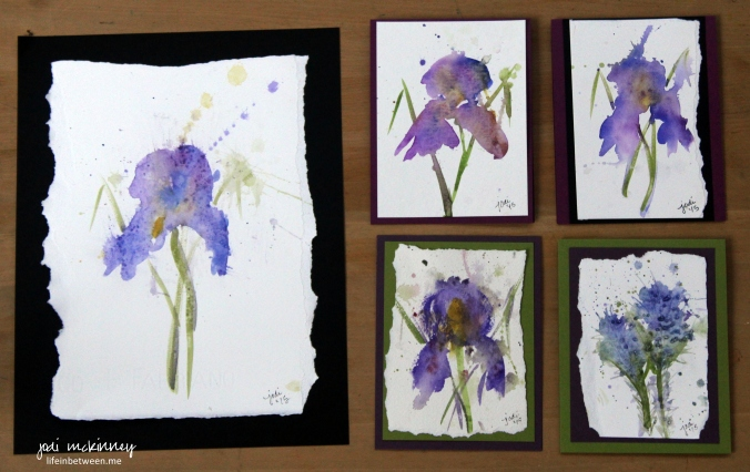 watercolor iris experiment