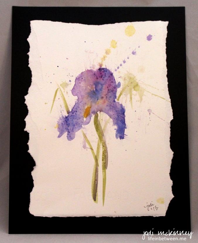 Watercolor Iris Large