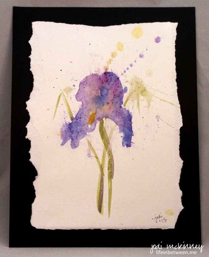 Watercolor Iris Large