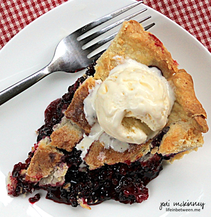 Fresh Blackberry Pie Slice 2
