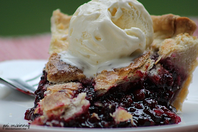 Fresh Blackberry Pie Slice 3