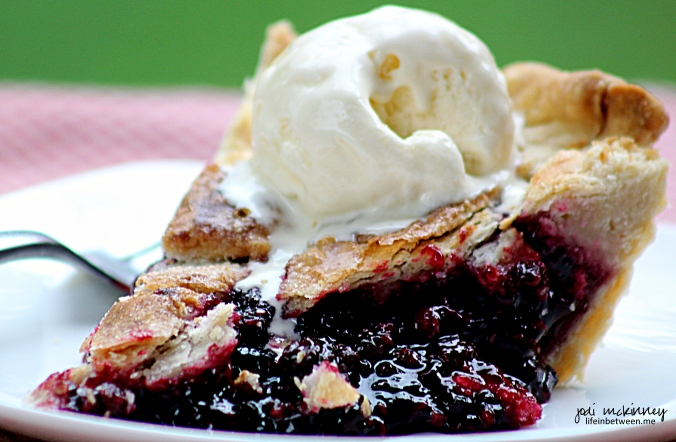 Fresh Blackberry Pie Slice