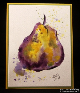 pear purple watercolor