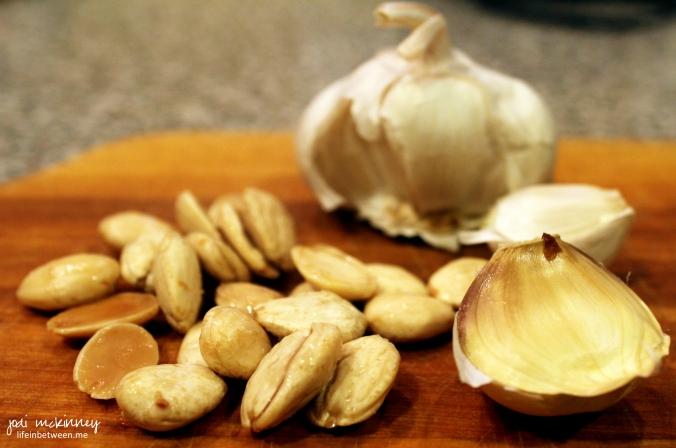 pesto marcona almonds and garlic