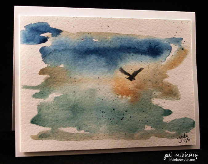 sea gull watercolor card