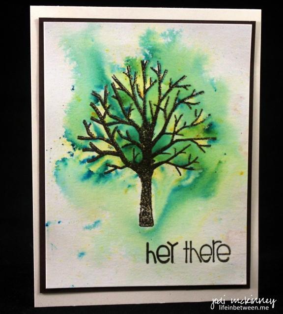 Sheltering Tree Summer Notecard Brusho