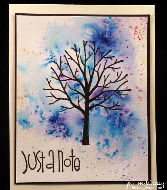 Sheltering Tree Winter Notecard Brusho