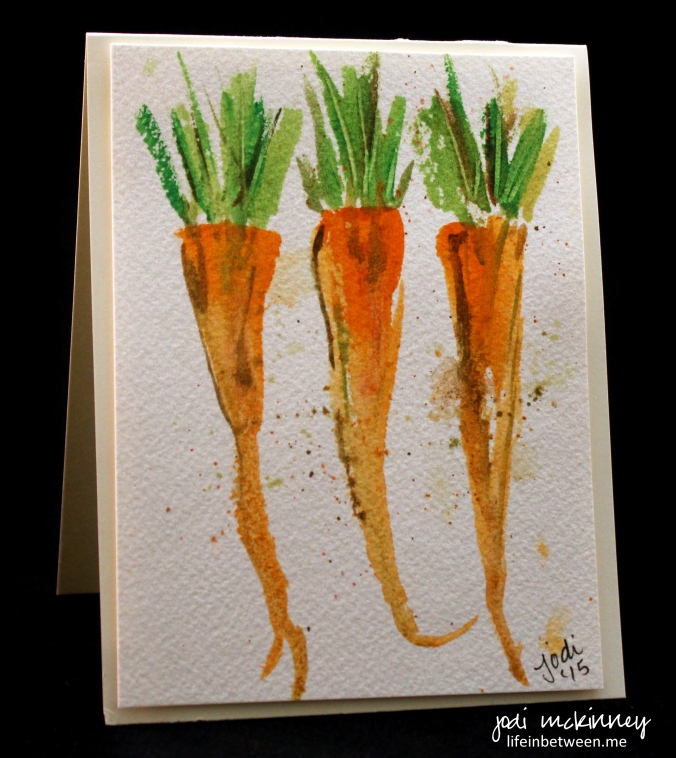 vegetable card carrots