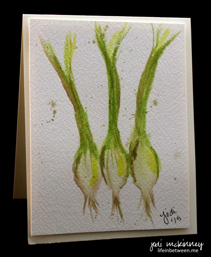 vegetable card green onions