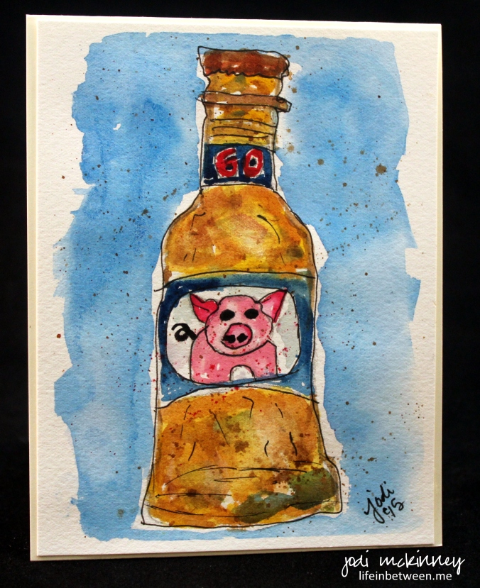 watercolor pork chop in every bottle of beer