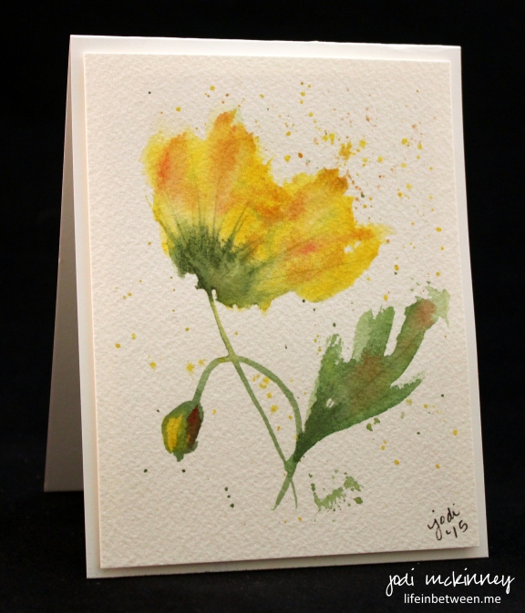 yellow flower watercolor card