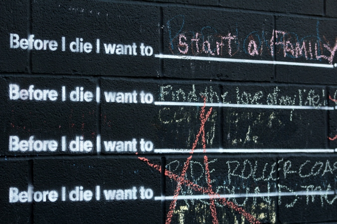 before I die I want to 2
