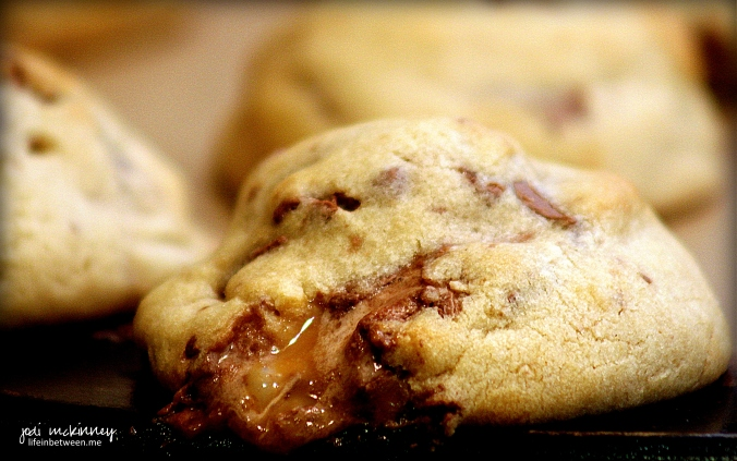 Caramel Stuffed Milky Way Cookies 5jpg