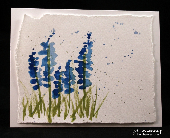 lupine blue 2 note card
