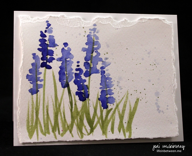 lupine blue note card