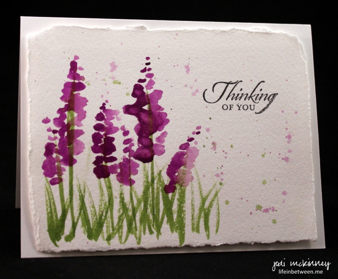 lupine purple note card