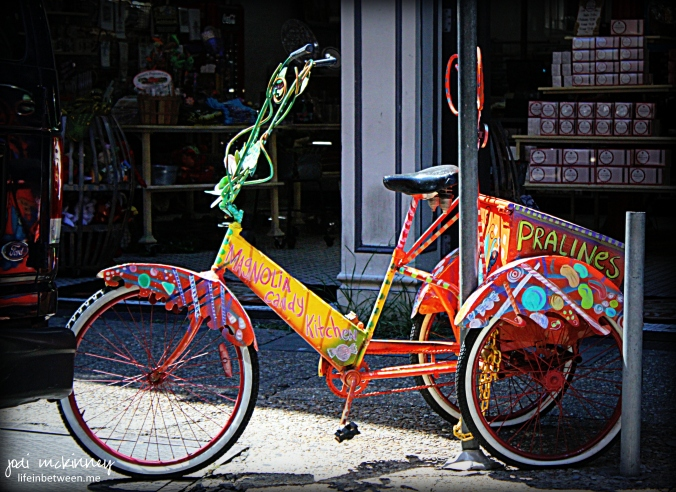 magnolia candy kitchen praline delivery bicycle french quarter new orleans