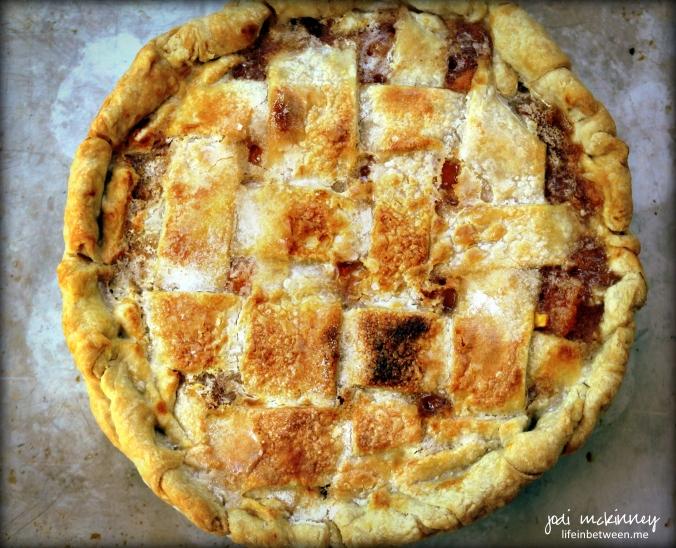 Old Fashioned Fresh Peach Pie