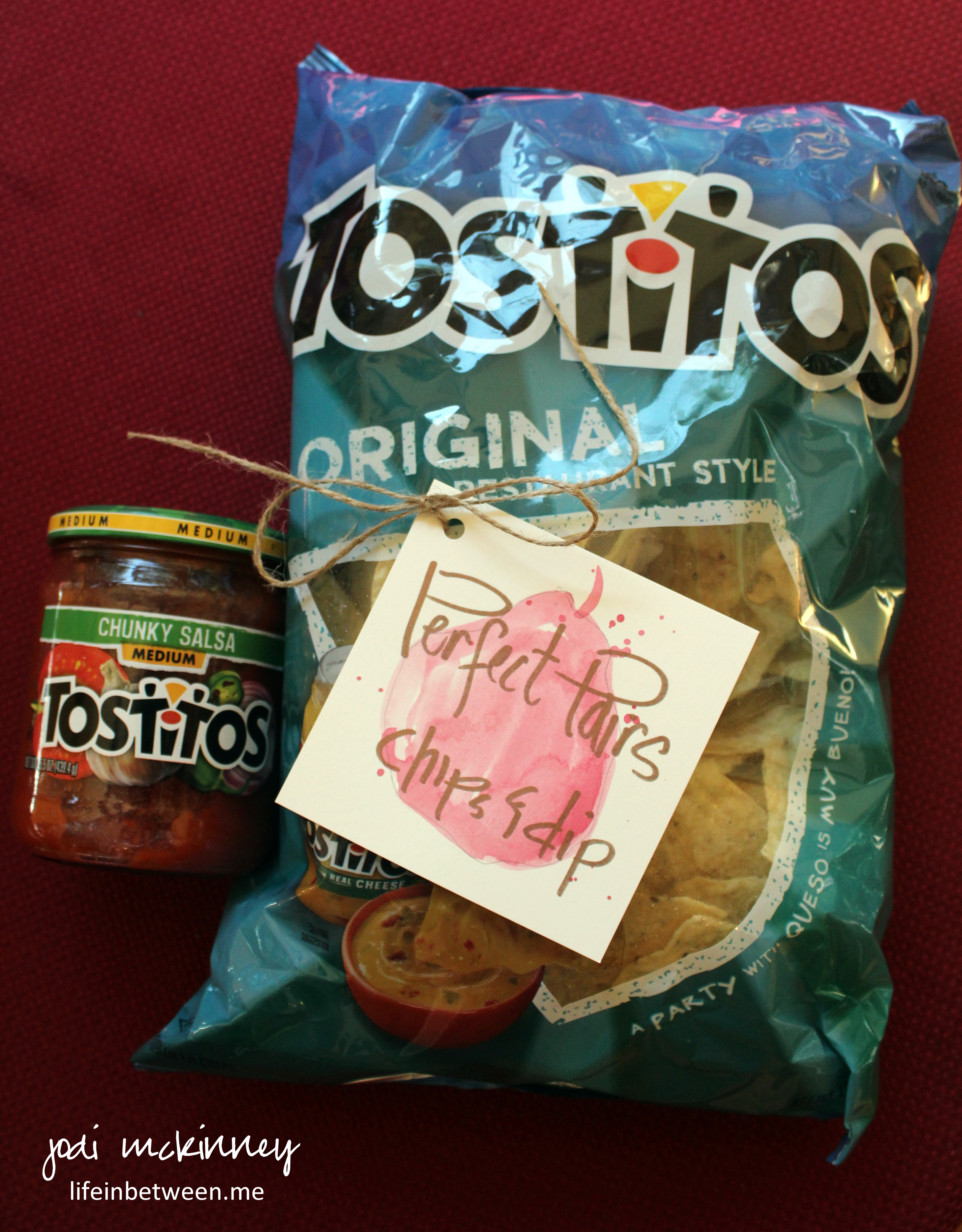 perfect pair wedding shower gift chips and dip salsa