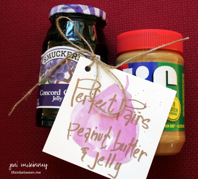perfect pair wedding shower gift peanut butter and jelly