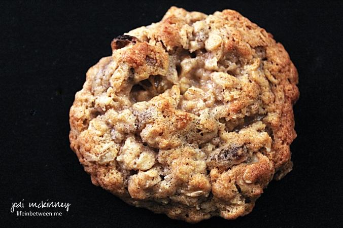 chewy honey oatmeal raisin cookies 1