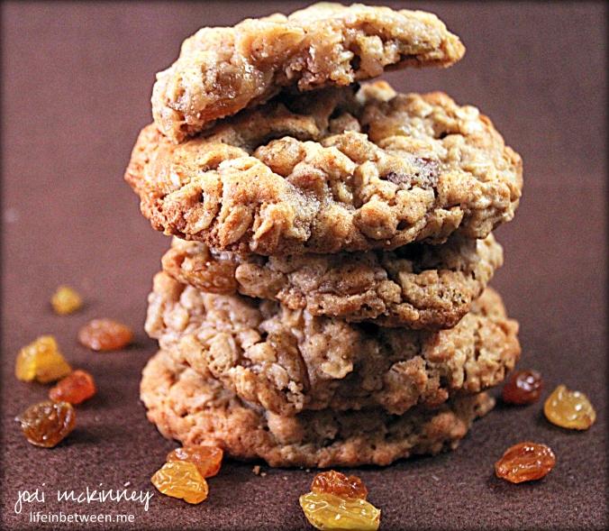 chewy honey oatmeal raisin cookies 3