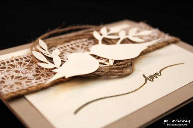 CJ Candace Wedding Card hello life simply wonderful bird punch 2