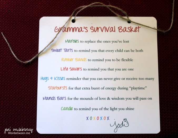 Grandmas Survival Basket Card
