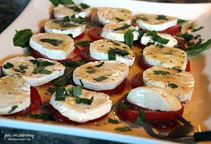 grandparent shower caprese salad