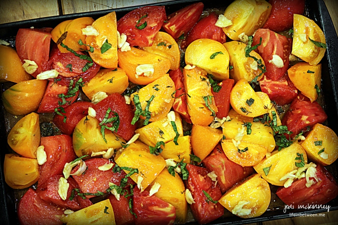 Roasting Heirloom tomatoes