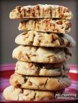cinnamon chip cookie stack