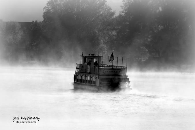 foggy barbara j conneaut lake black and white monochrome
