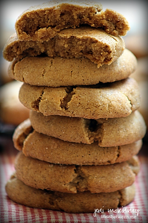 gingersnap cookies stack
