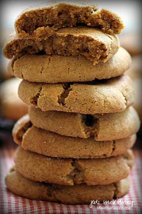 gingersnap cookies stack