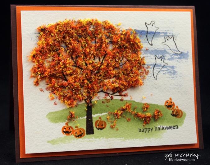 pp265 halloween sheltering tree flower soft