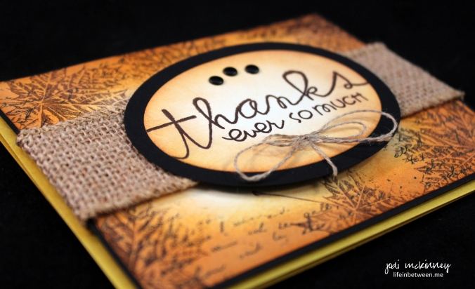 PP269 Let us Give Thanks Fall Theme Card flat
