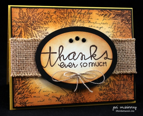 PP269 Let us Give Thanks Fall Theme Card