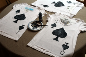 royal flush spades halloween costume tshirts