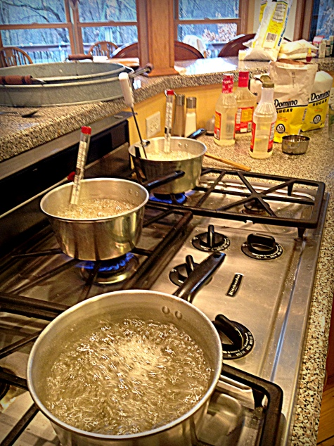 hard tack christmas candy boiling