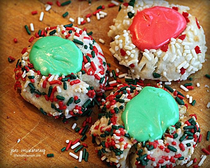 Christmas Pittsburgh Thumbprint Cookies