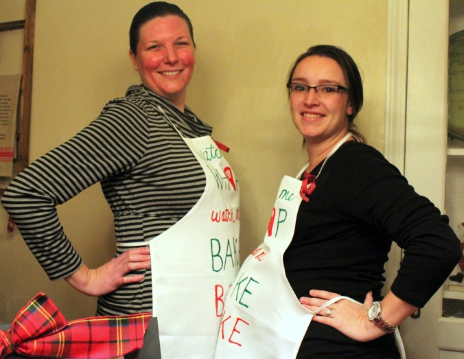 Jen and Jessica pregnant bakers