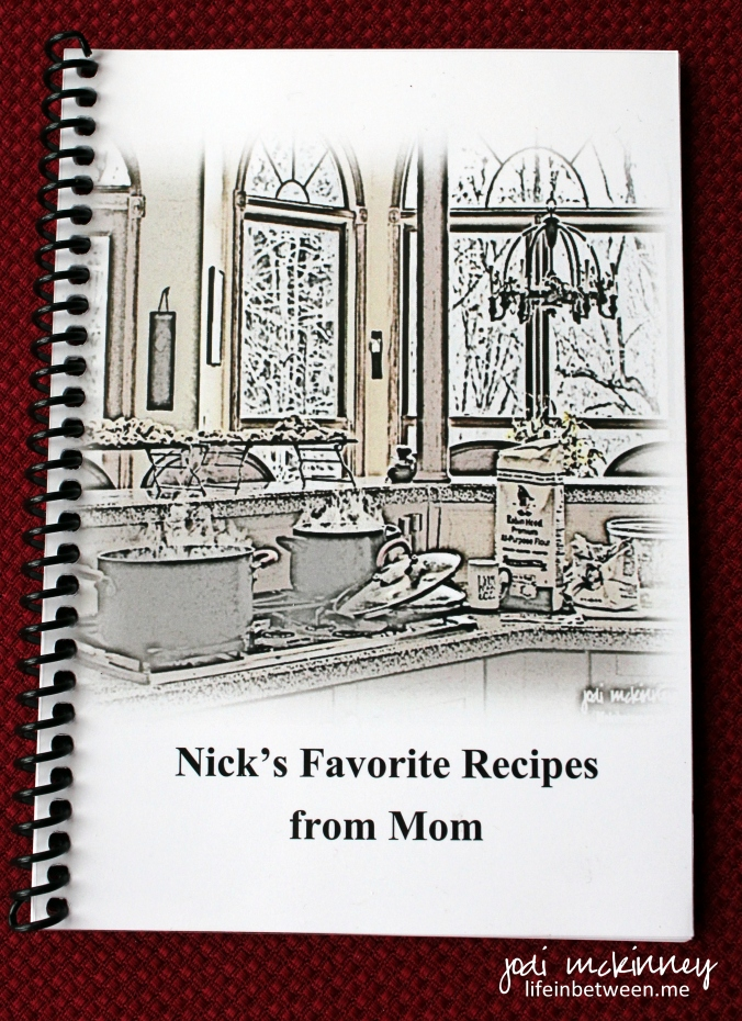 Nicks Cookbook from mom