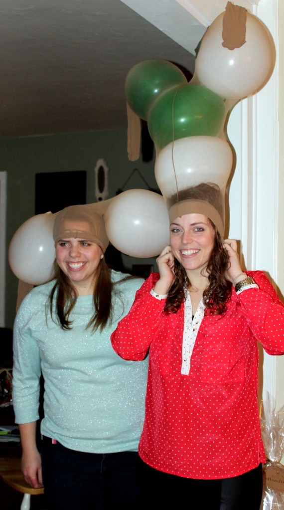 Reindeer Katie and Michelle
