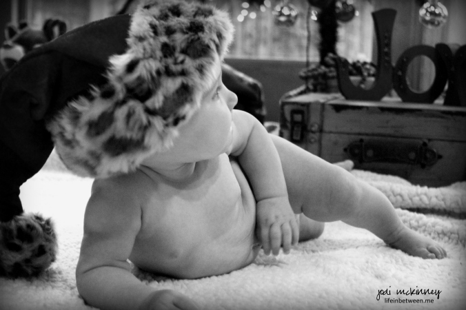Santa Baby Eva Black and White