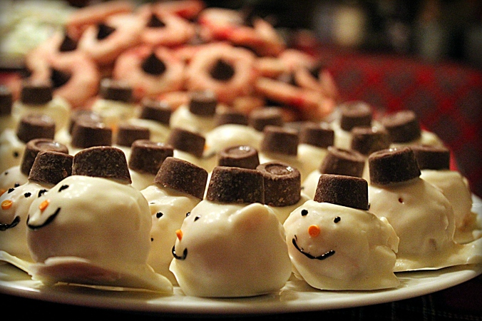 snowman cake balls most unique