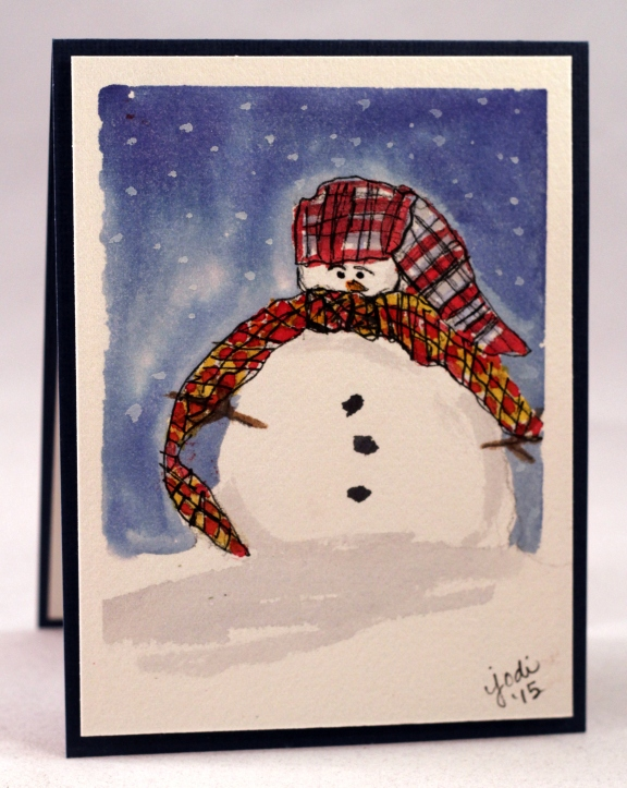 snowman watercolor